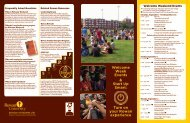 printed program of events - Rowan University