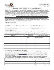 2013-2014 Dependent/Independent Verification Worksheet V1