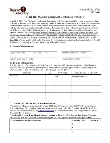 Printables Dependent Verification Worksheet v1 standard dependent verification worksheet 2016 17 intrepidpath independent kaplan university worksheets