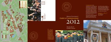 Guide to Commencement - Rowan University