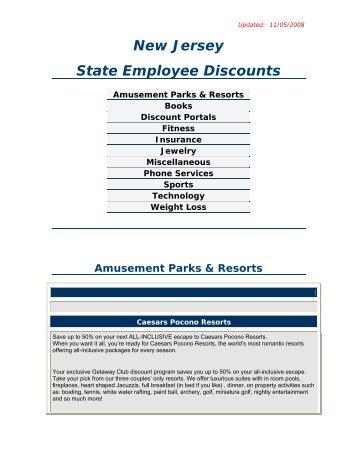 New Jersey State Employee Discounts - Rowan University