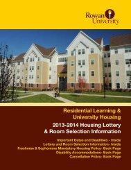 Housing Lottery Information - Rowan University