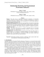 Relationship Marketing and Organizational ... - EuroJournals