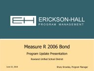 06-22-10 Erickson-Hall Bond Report - Rowland Unified School District