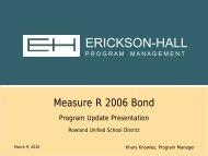3-9-10 Erickson-Hall Bond Report - Rowland Unified School District