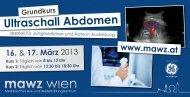 Ultraschall Abdomen Grundkurs www.mawz.at