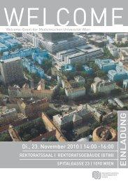 E iN l a D U N g - Alumni Club Medizinische Universität Wien