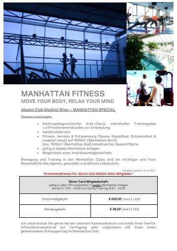 MANHATTAN FITNESS - Alumni Club Medizinische Universität Wien
