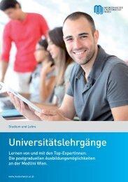 16 Lehrgänge - Alumni Club Medizinische Universität Wien