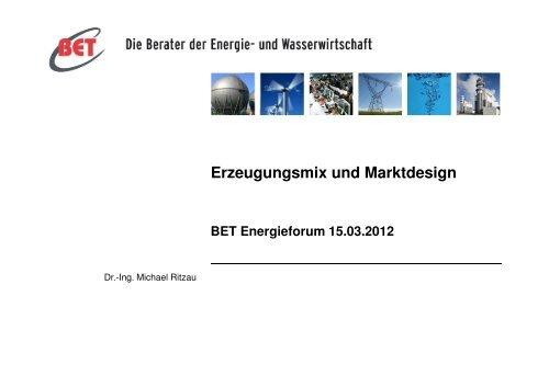 Dr-Michael-Ritzau BET-Energieforum2012 - BET Aachen
