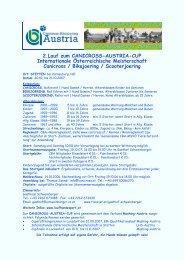Ausschreibung Stetten 2007 - Canicross - Bikejöring Austria