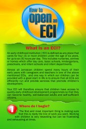 What is an ECI? - The Early Childhood Commission