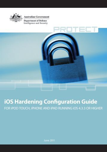 iOS Hardening Configuration Guide - DSD