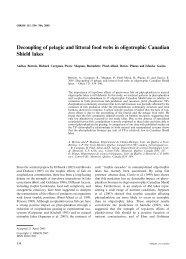 Decoupling of pelagic and littoral food webs in oligotrophic ... - UQAM