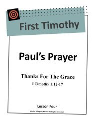 Paul's Prayer - Mission Arlington
