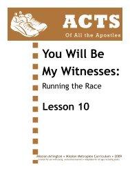 Lesson 10: Sharing - Mission Arlington