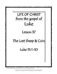 Lesson 37 - lost sheep coin - Mission Arlington