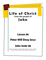 Peter Will Deny Jesus - Mission Arlington