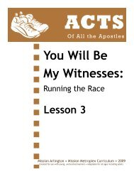 Lesson 03: Matthias is Chosen - Mission Arlington