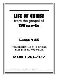 Lesson 45 - review of cross - Mission Arlington