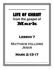 Matthew Follows Jesus - Mission Arlington
