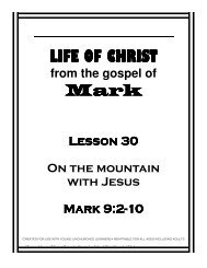 Lesson 30 - On Mountain with Jesus - Mission Arlington
