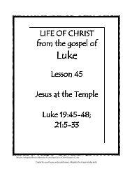 Lesson 45 - Jesus at Temple - Mission Arlington