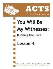 Lesson 04: The Holy Spirit Comes - Mission Arlington