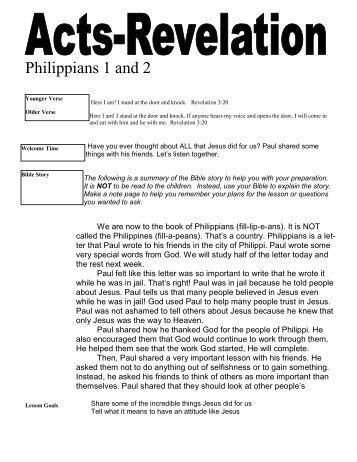 Philippians 1 and 2 - Mission Arlington
