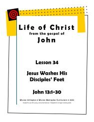 Jesus Washes His Disciples' Feet - Mission Arlington