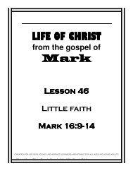 Lesson 46 - LIttle Faith - Mission Arlington