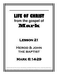 Lesson 21 - Herod & John - Mission Arlington