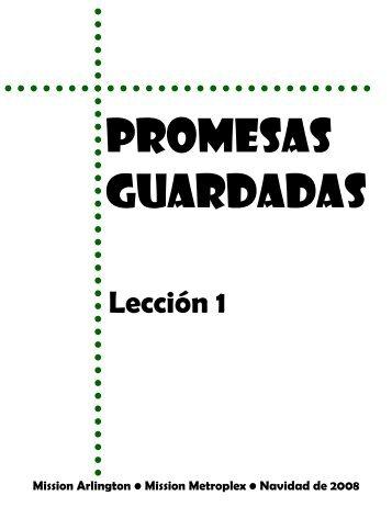 Leccion 1-Promesas Guardadas - Mission Arlington