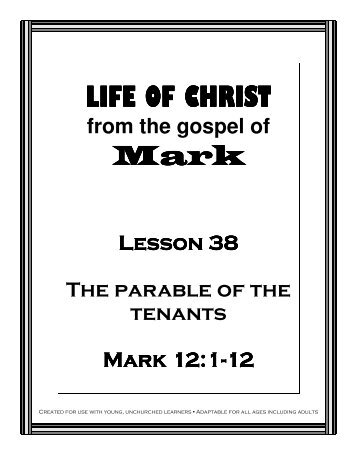 Lesson 38 - The Tenants - Mission Arlington