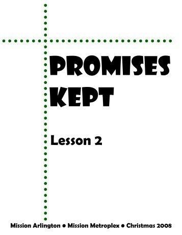Promises Kept-Lesson 2 - Mission Arlington