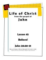 Life of Christ John - Mission Arlington