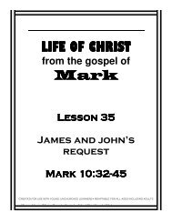 Lesson 35 - James and John - Mission Arlington