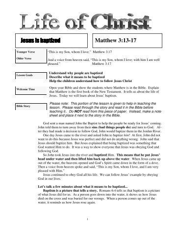 Jesus is Baptized - Mission Arlington