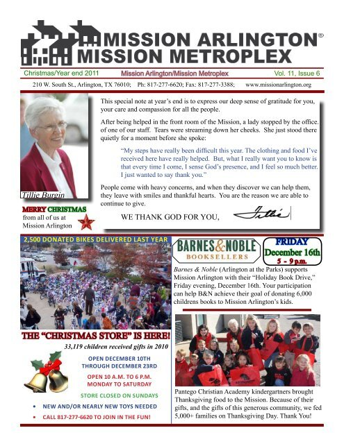 """""""CHriSTMAS STore"""" iS Here! - Mission Arlington"""