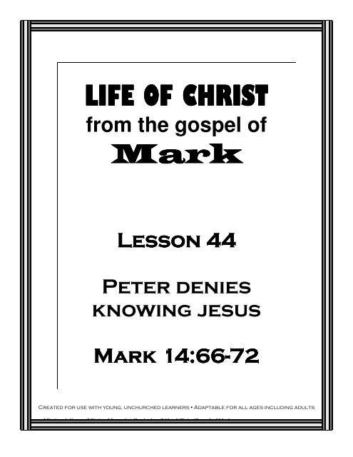 Lesson 44 - Peter Lies - Mission Arlington