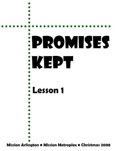 Promises Kept-Lesson 1 - Mission Arlington