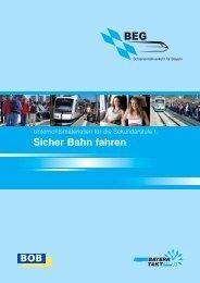 Sicher Bahn fahren - Bayerische Oberlandbahn
