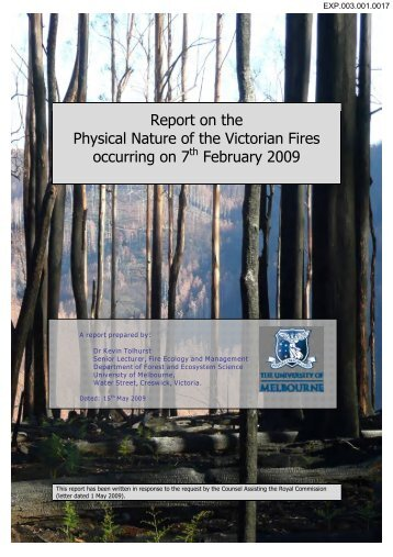 Report on the Physical Nature of the Victorian Fires occurring on 7th ...