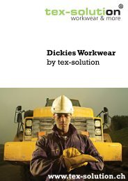 Dickies Workwear by tex-solution www.tex-solution.ch