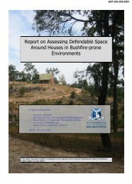 Report on Assessing Defendable Space Around Houses in Bushfire ...