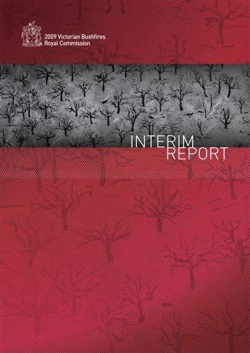 report InterIm - 2009 Victorian Bushfires Royal Commission