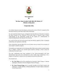 UWI scholarship announcement - The Royal Gazette