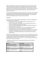 US taxes presentation - The Royal Gazette