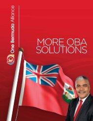 MORE OBA SOLUTIONS - One Bermuda Alliance