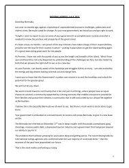 NATIONAL ADDRESS –July 8, 2013 - The Royal Gazette